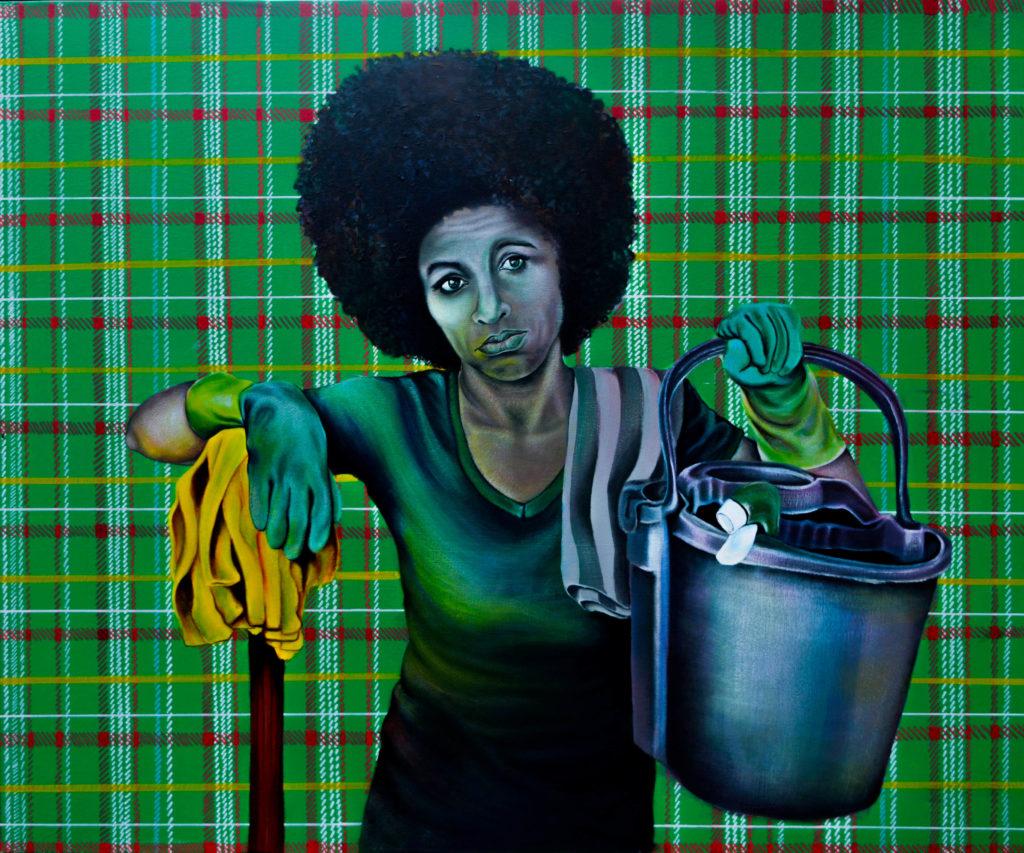 © Alida Ymele, Grey Women, 110 x 90 cm, Acrylique et Posca sur toile, 2018